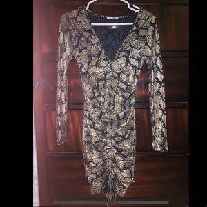 Fashion nova black and gold dress 👗